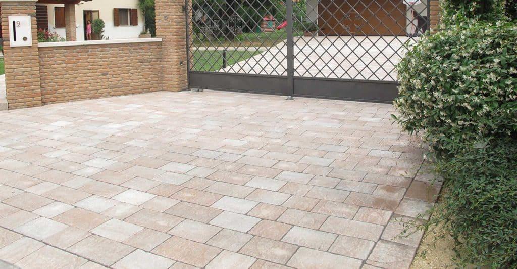 Borgo dOrcia Pavimento Passo carrabile Casa privata anticato massello autobloccante sabbia