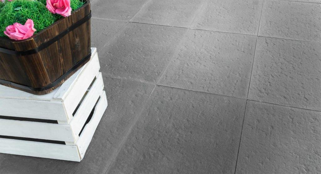 Confini lastra in calcestruzzo effetto pietra pavimento galleggiante