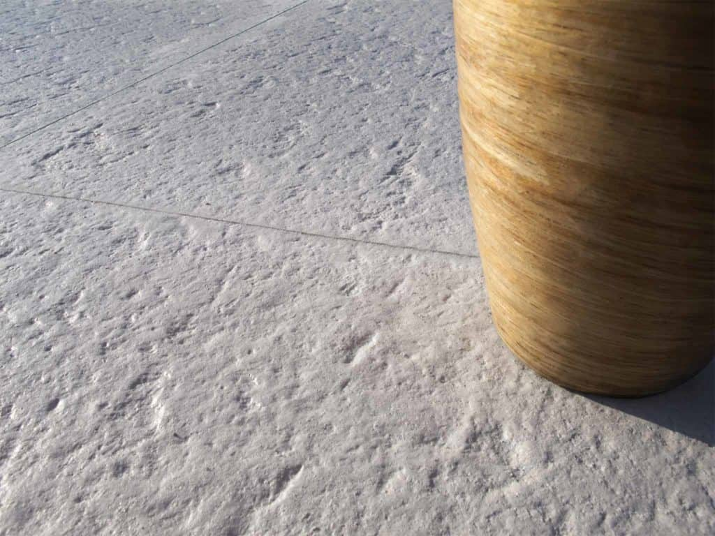 Confini lastra in calcestruzzo effetto pietra pavimento galleggiante pavimeno bianco
