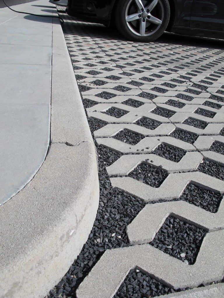 Gran park grigliato in calcestruzzo pavimento per esterni pavimentazione per parcheggi 2