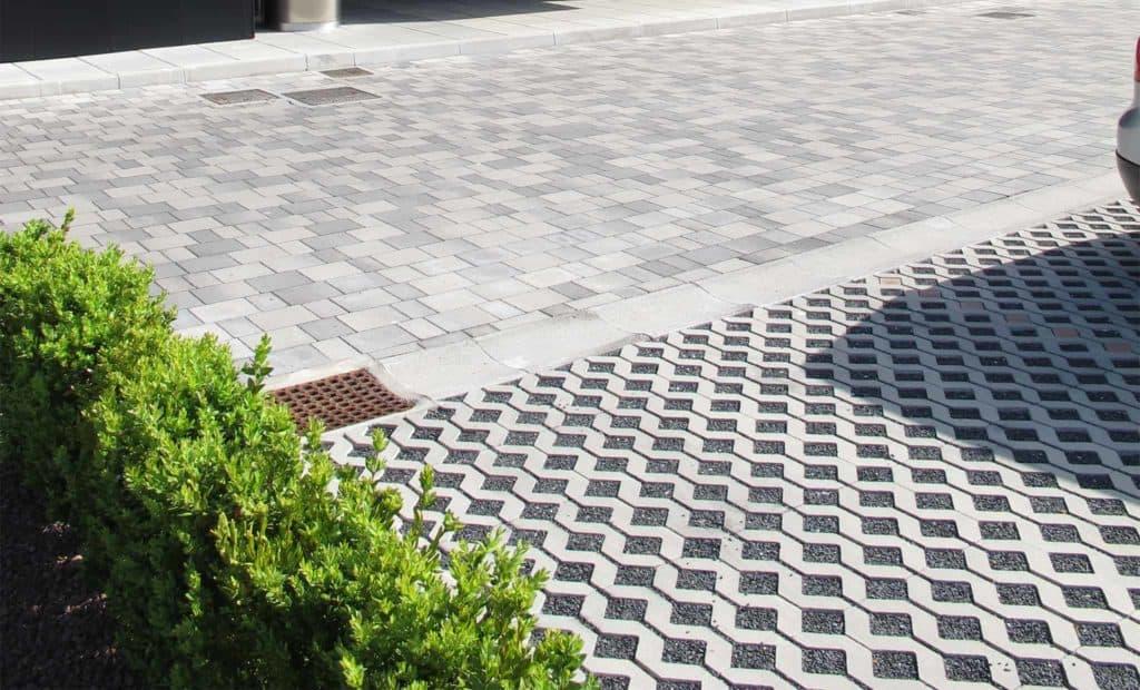 Gran park grigliato in calcestruzzo pavimento per esterni pavimentazione per parcheggi 3