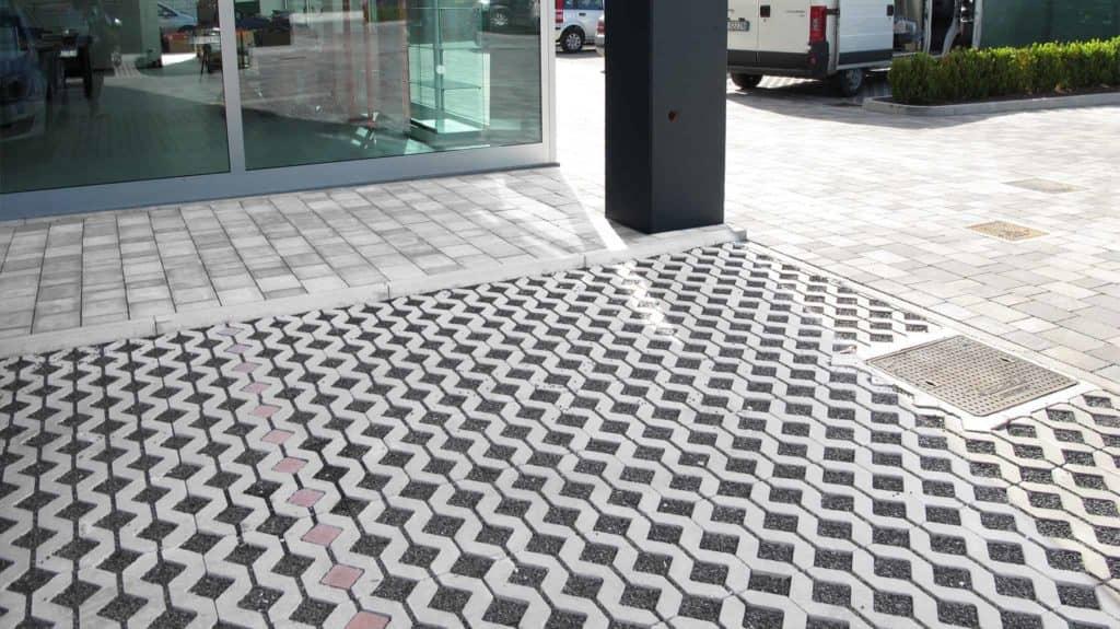 Gran park grigliato in calcestruzzo pavimento per esterni pavimentazione per parcheggi pavimento per esterni