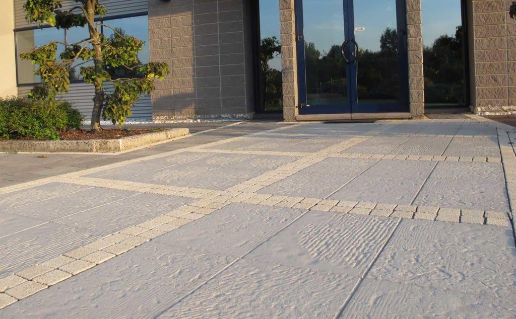 Piedra casa privata Lastra in calcestruzzo bianco pavimento in colla pavimento galleggiante