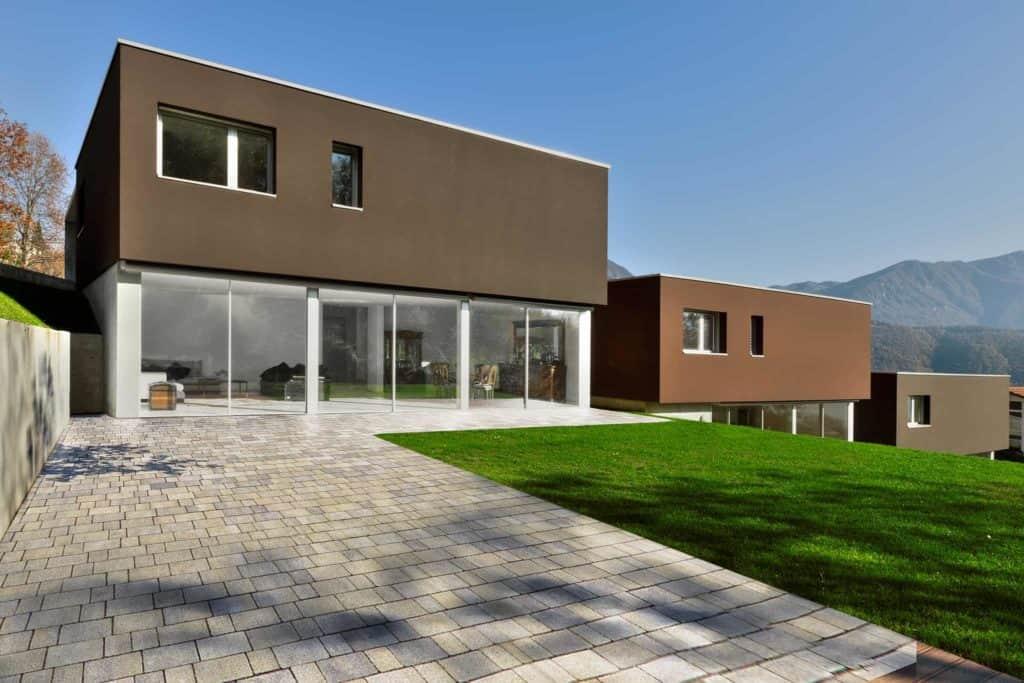 Progetto f massello autobloccante efetto pietra giallo grigio villa