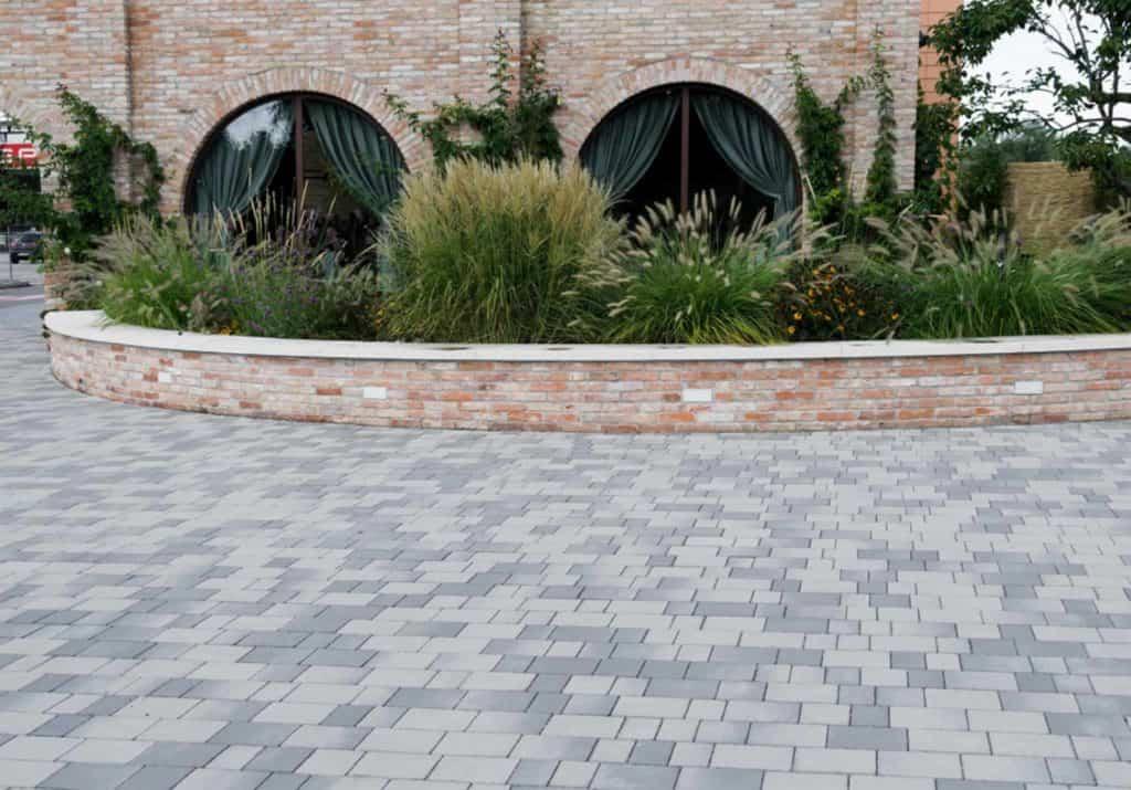 Progetto f massello autobloccante efetto pietra grigio pavimento da esterno