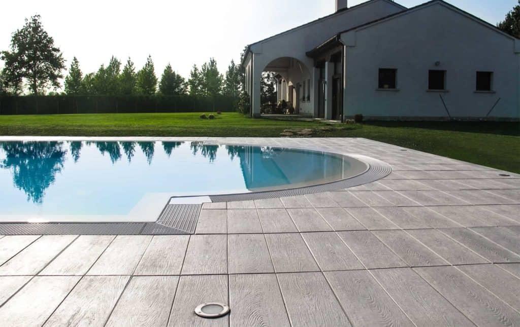 Tavole venete lastra in calcestruzzo pavimento galleggiante pavimento su supporti piscina