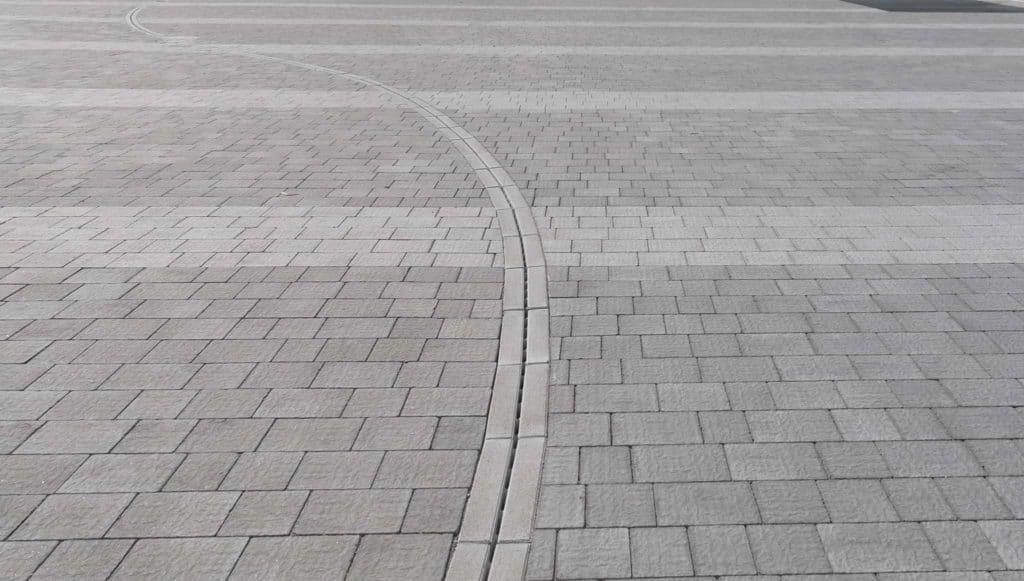 antigua canaletto canaletta massello autobloccante pavimento efetto pietra grigio cento commeriale