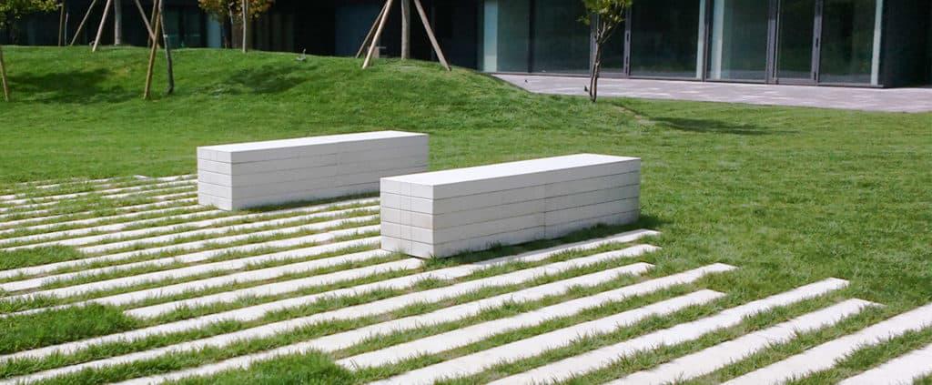 puntolinea panchine in calcestruzzo parco giardino pavimenti da giardino