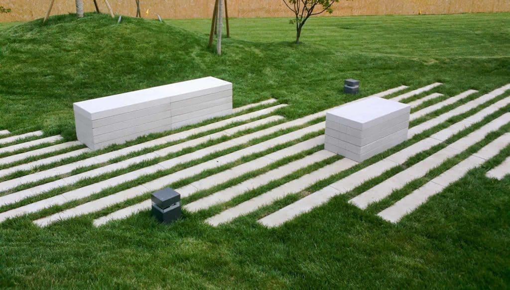 puntolinea panchine in calcestruzzo parco giardino pavimenti da giardino pavimenti con distanziale