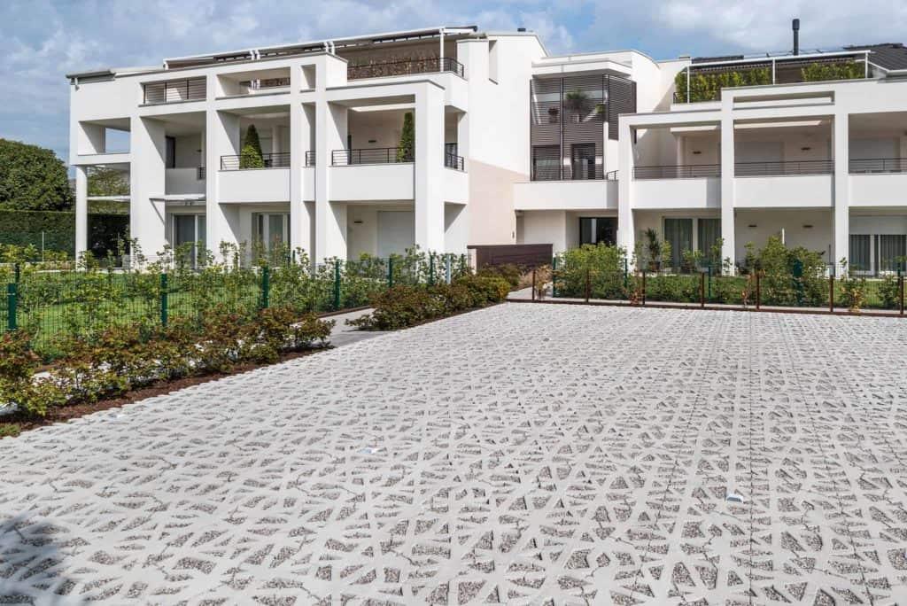 green carpet nest cemento Pavimento per parvheggi grigliato in calcestruzzo Pavimento per esterni