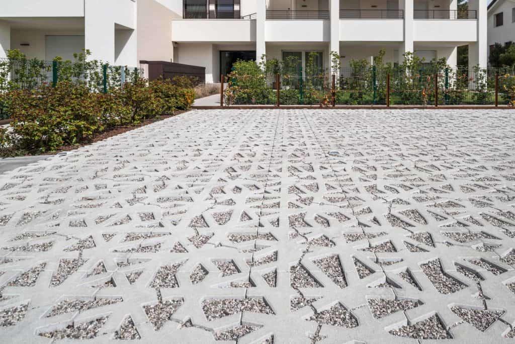 green carpet nest grigliato in calcestruzzo Pavimento per esterni